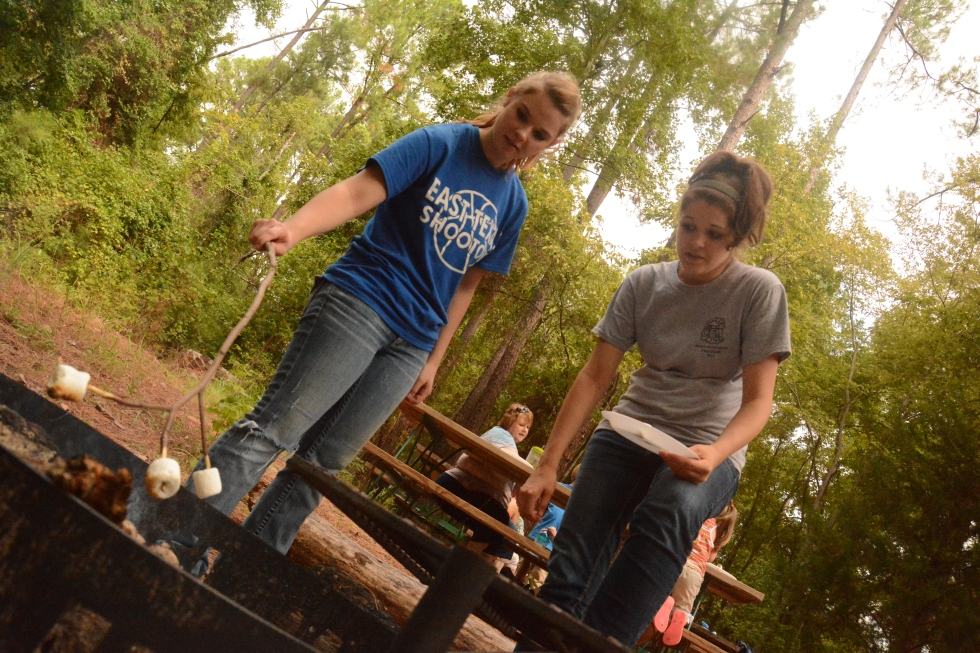 Anthropology/Geography Club, Camp Tyler, Jessie Leonard, Kayla Cobble, Fall 2013