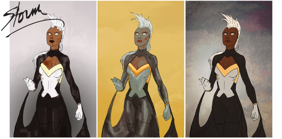 Storm, Marvel, Photoshop, DeviantArt, Fan Art,