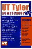UT Tyler Homeschool Day Poster, Illustrator & Photoshop, Fall 2013