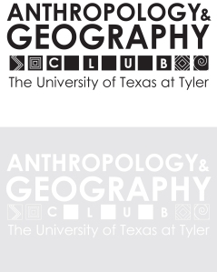 Logo Design for Anthropology and Geography Club, B/W version, Illustrator, Fall 2013