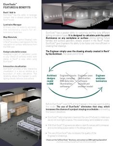 EMA ELUM Tools Flyer, back, shows improved process and efficiencies