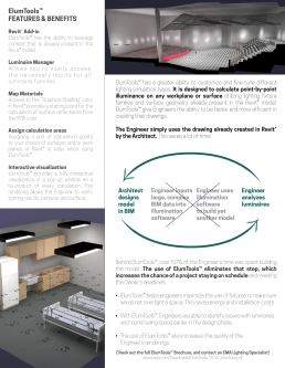 EMA ELUM Tools Flyer, back, shows improved process and efficiencies