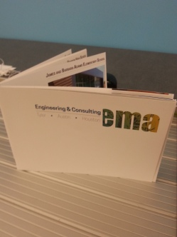 EMA 5x7 booklet, front view