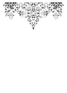 Delicate wedding filigree design used on reception menu.