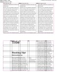 Type specimen booklet, ratio grid setup