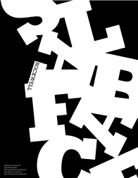 Black and white type specimen booklet cover