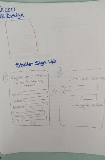 UX Design Fall 2017 Paper Prototype 1